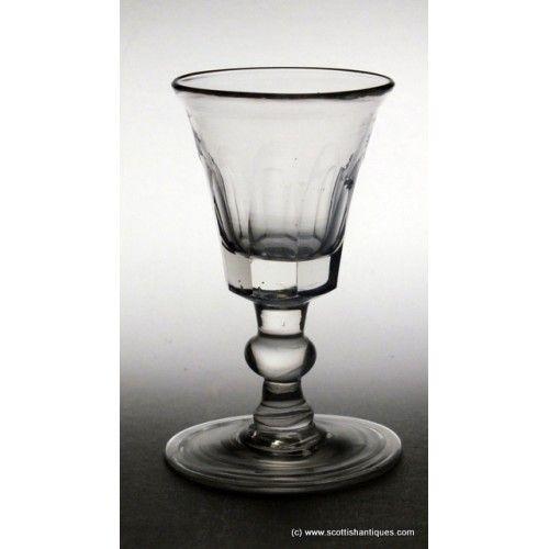Georgian Balustroid Port Wine Glass c1790