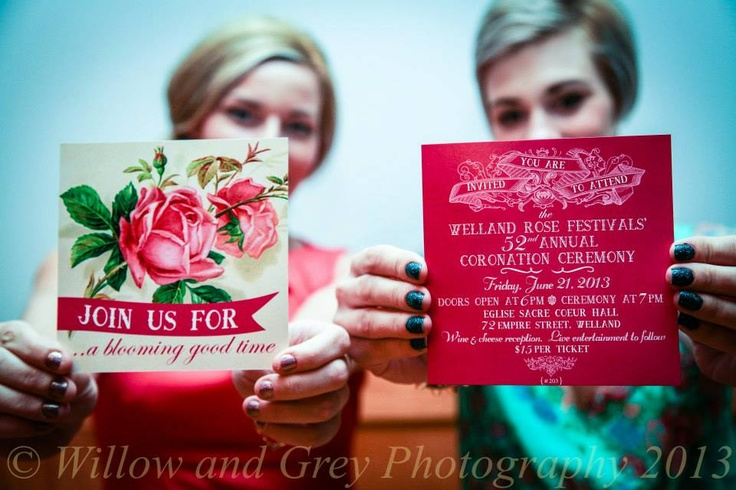 Welland Rose Festival Coronation Ceremony tickets designed by Defining Moments. Photography by Willow and Grey Photography:: Niagara Vendor Love