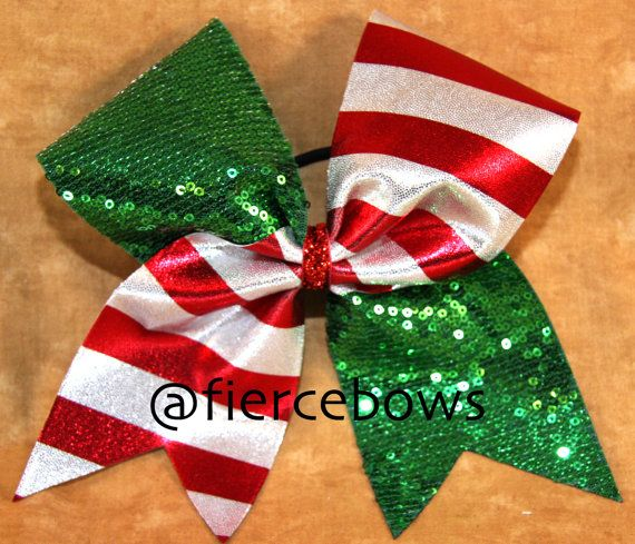 Christmas Cheer Bow on Etsy, $10.00