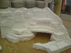 bearded dragon habitat | Notice how I made the front come around a little bit, and carved out a ...