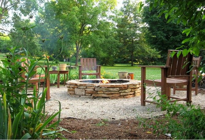 Stacked Stone Fire Pit