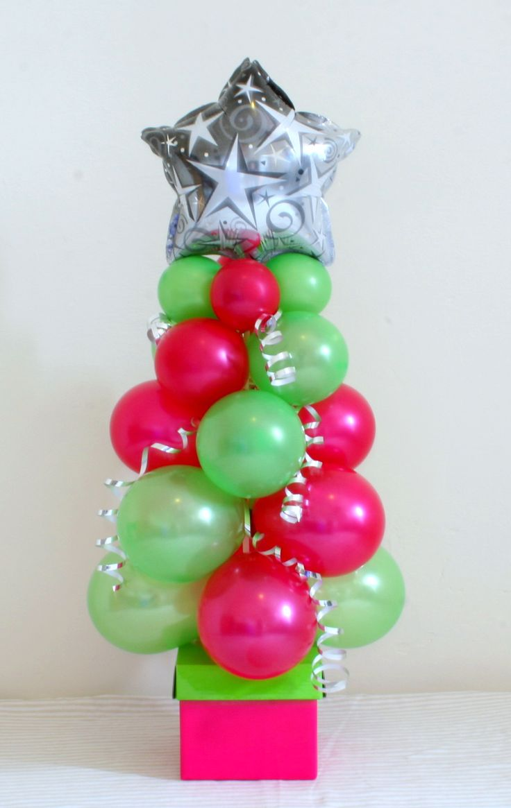 Pearl Lime Green and Red 5inch Christmas Tree with Silver Star on a Box