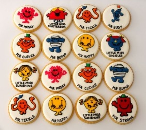 Mr Men and Little Miss cookies by Miss Biscuit
