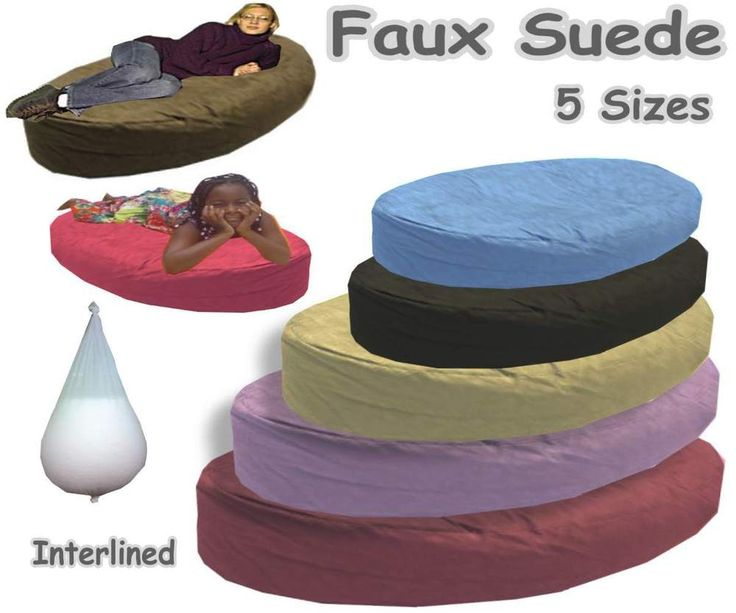 Faux Suede Bean Bags Beds Large Sofa Kids Adults Ottoman Settee Lined Filled #Abeanbagcom #Modern