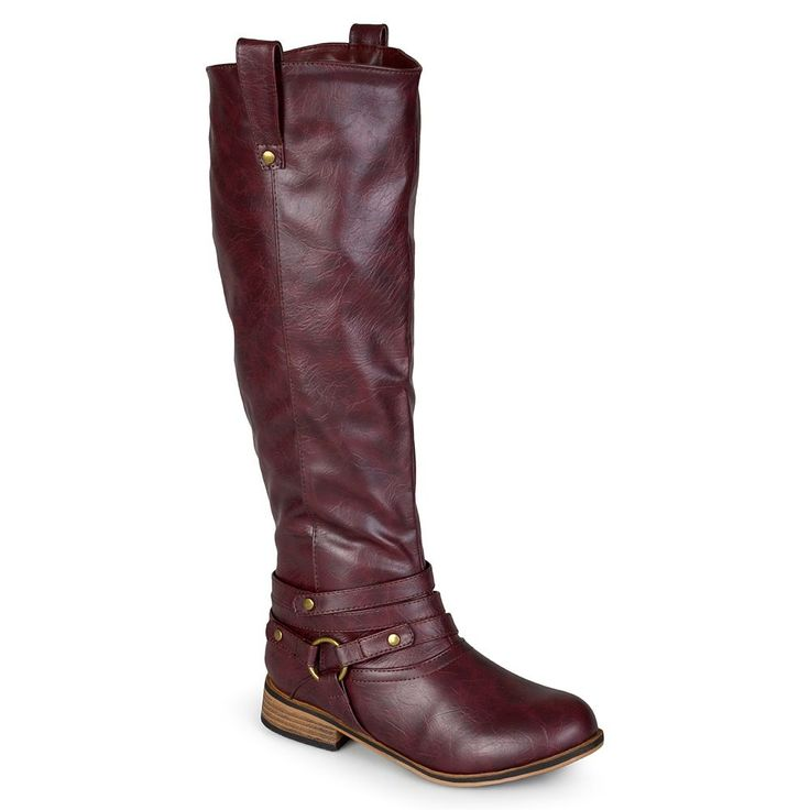 Journee Collection Walla Women's Knee-High Boots, Size: 9.5 Wc, Dark Red