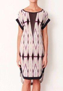 Kasbah Plunging V Silk Dress