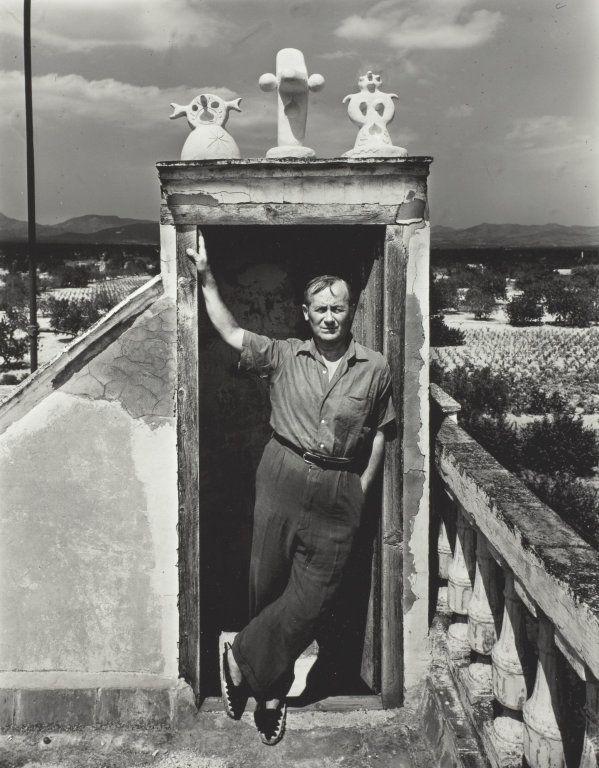 ∞ Joan Miró on His House Roof, Montroig, Spain | The Art Institute of Chicago