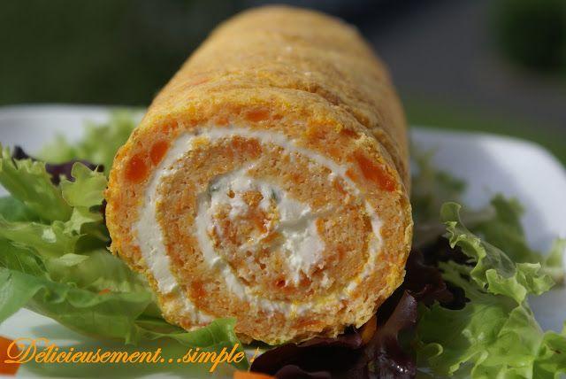 Délicieusement... simple !: Roulé aux carottes et au fromage à la crème ciboulette