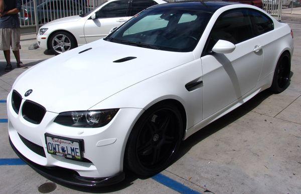 Satin White Wrap For 5 Series Bmw Custom Car Wraps