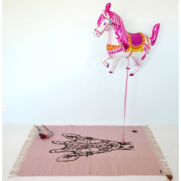 Tapis rectangulaire Gypsy girafe rose (100 x 150 cm)