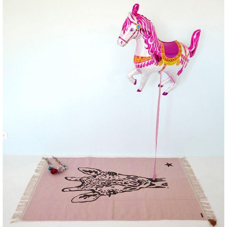 Tapis rectangulaire Gypsy girafe rose (100 x 150 cm)