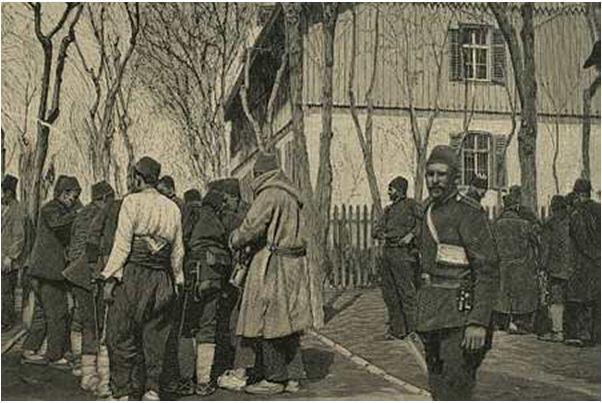 1897 Selanik Tren İstasyonu ve Türk Askerleri