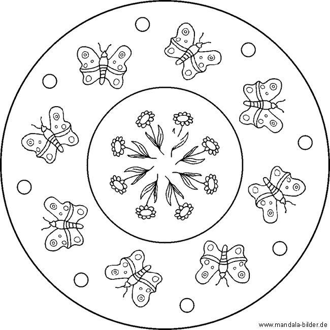 mandala schmetterling  tier malvorlagen für kinder