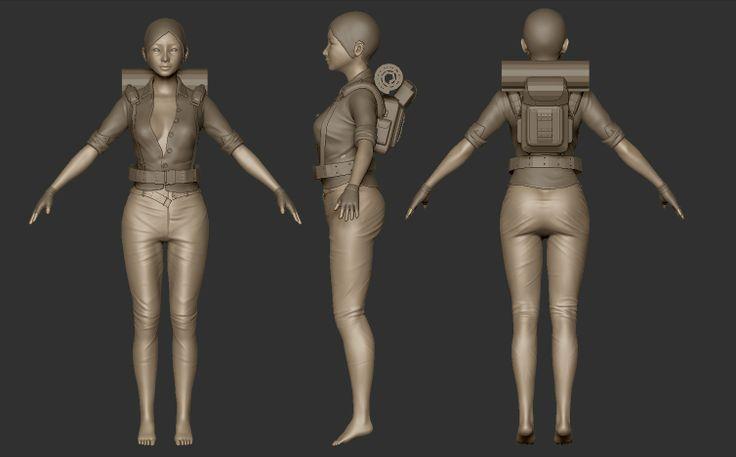WIP - Female soldier