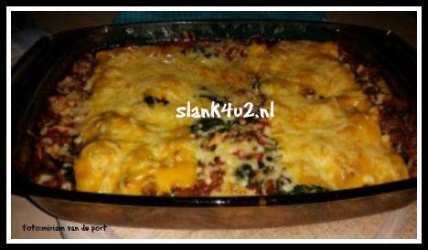 Spinazie schotel (eivrij, lactosearm, glutenvrij)