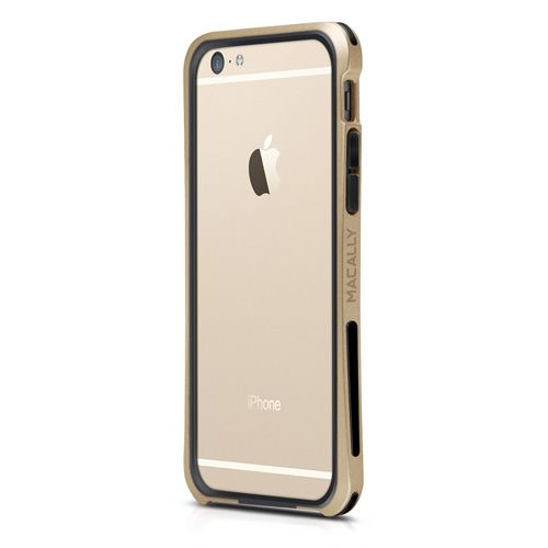 "Macally Flexible Protective Case Bumper (IRONP6M-CH) Gold (iPhone 6-4.7"") - myThiki.gr - Θήκες Κινητών-Αξεσουάρ για Smartphones και Tablets - Macally IronRim Champagne Gold"