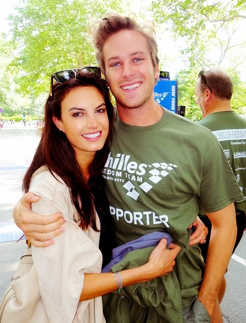 Armie Hammer and his wife Elizabeth. Such a lovely looking couple.