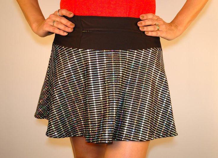 SlipStream SwingStyle Sparkle skirt, Running skirts