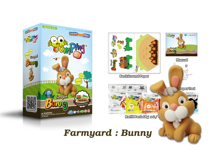 Create Your Own Bunny with our Step-by-step Farmyard Series - 6 to collect.