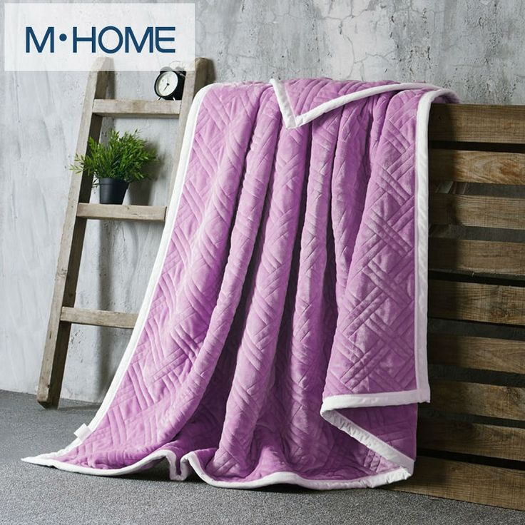 48.05$  Watch now - http://alibhg.worldwells.pw/go.php?t=32762619874 - Luxury high quality flannel blankets Upset Composite Throw Solid color sofa/bedding Throws Flannel Blanket Winter Warm Bedsheet 48.05$