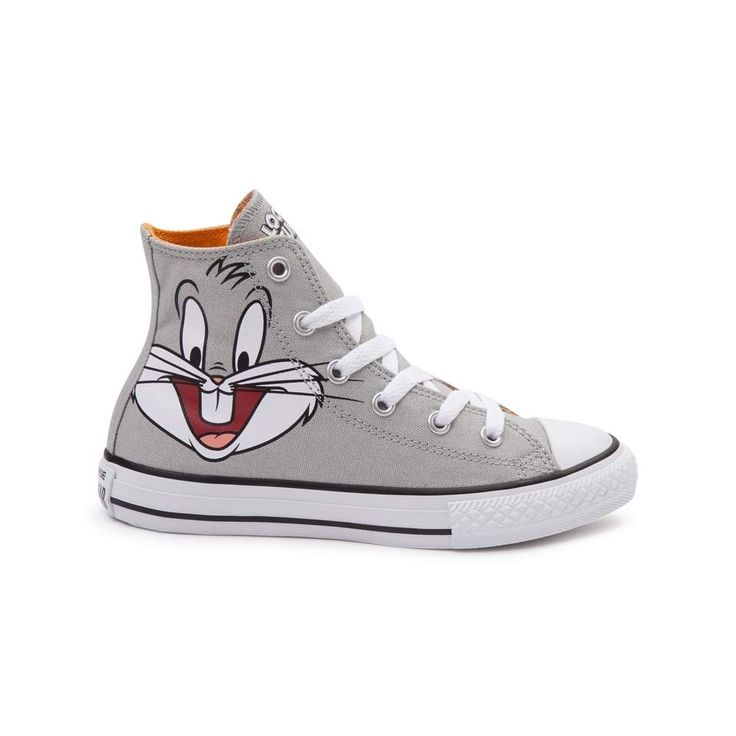 Showcasing everyone's favorite rascally rabbit, say 'What's up, doc?' to  the new Chuck Taylor All Star Hi Looney Tunes Bugs Bunny Sneaker from  Converse!
