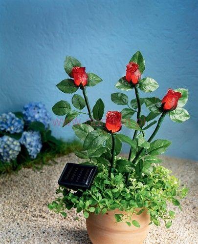 Solarna lampa róże 4 sztuki SOLAR LED