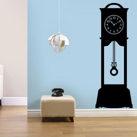 Sticker Mural horloge classique, sticker mural Vintage, vinyle horloge, Sticker Mural de pendule horloge, sticker mural rétro, art mural, sticker horloge ancienne 174