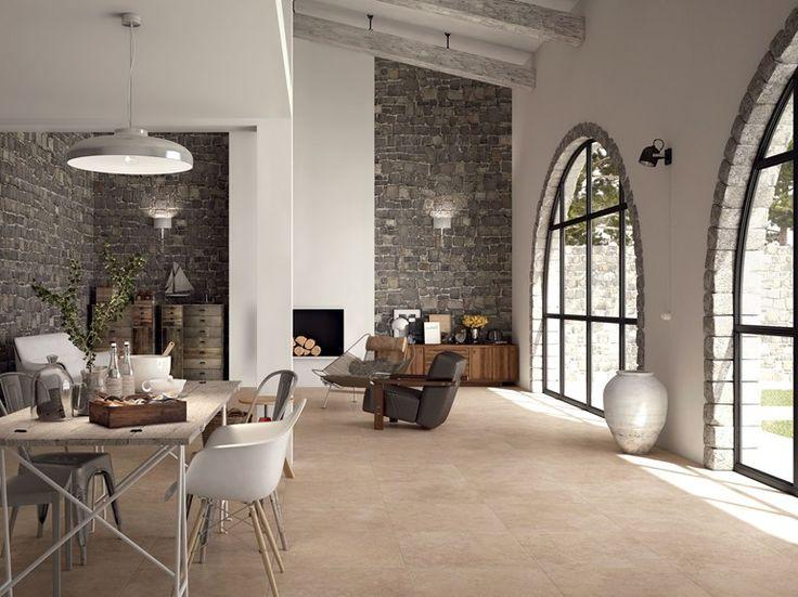 Revêtement de sol en grès cérame pleine masse effet pierre AGORÀ | Revêtement de sol - Ceramiche Marca Corona