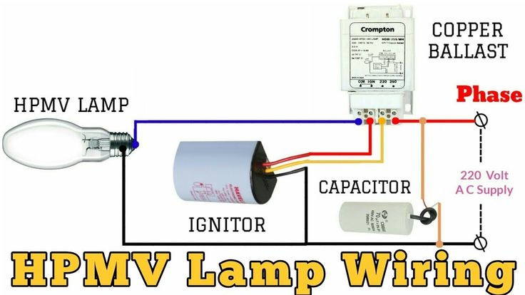 Hpmv Lamp  U0915 U0940  U0935 U093e U092f U0930 U093f U0902 U0917  U0915 U0948 U0938 U0947  U0915 U0930 U0947 U0902    Lamp Connection With Ballast And Ignito    En 2020