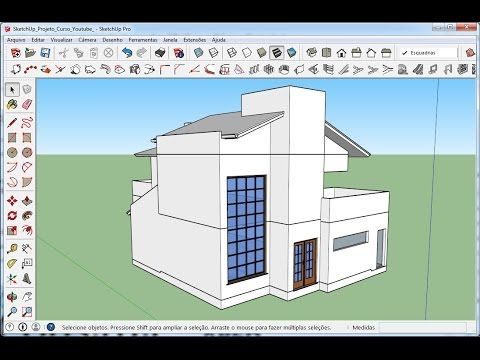 Superb SketchUp Aula Inserindo e modificando portas do Armaz m D Cur