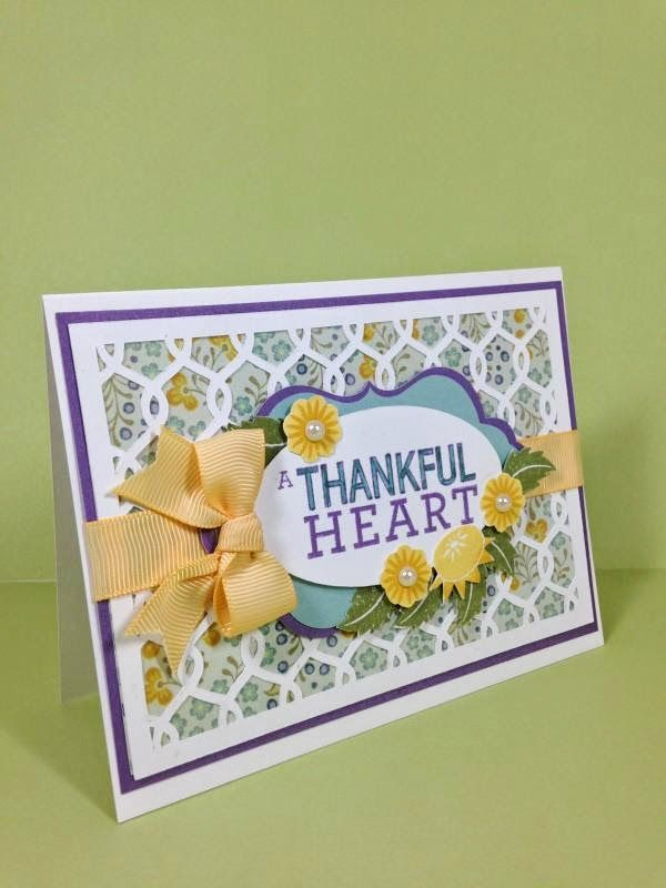 Card Making Ideas Close To My Heart Part - 36: Close To My Heart Artfully Sent Cricut Cartridge Thankful Heart Card  Sideview