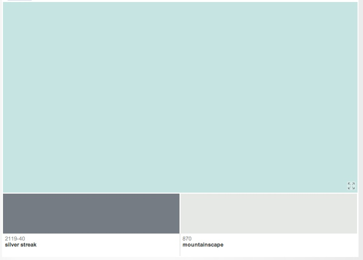 benjamin moore arctic blue with accent colors ...