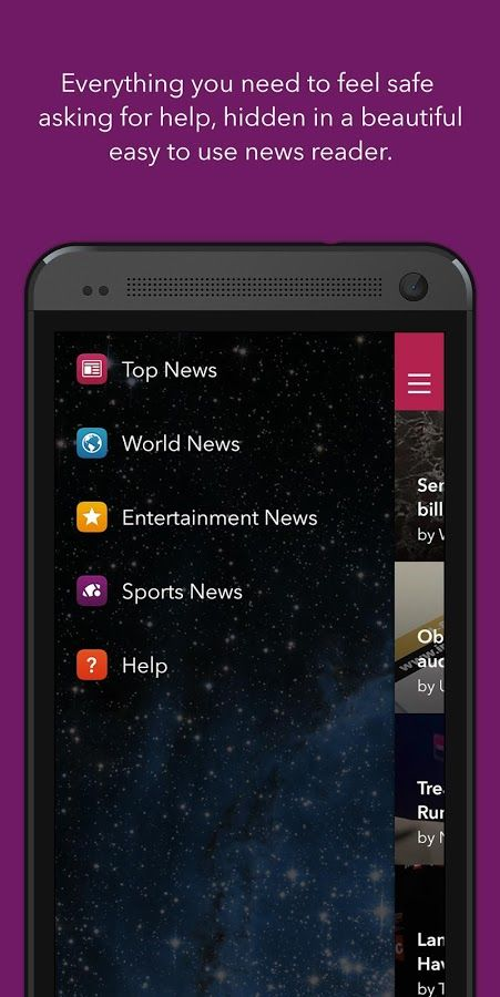 Aspire News- is a free app which contains top stories in world, sports  entertainment news, from the When Georgia Smiled: Robin McGraw Foundation ( powered by Yahoo!).  ADDITIONALLY, if someone you know is in an abusive relationship(or if that someone is you)the Help Section of the application contains complete resources for victims of domestic violence, as well as a way to get help when you need it,/need to research this.Not only for domestic violence sit, but for kids in case of…