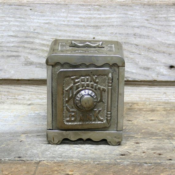 Vintage Coin Deposit Bank Industrial Piggy Bank by AuroraMills, $45.00