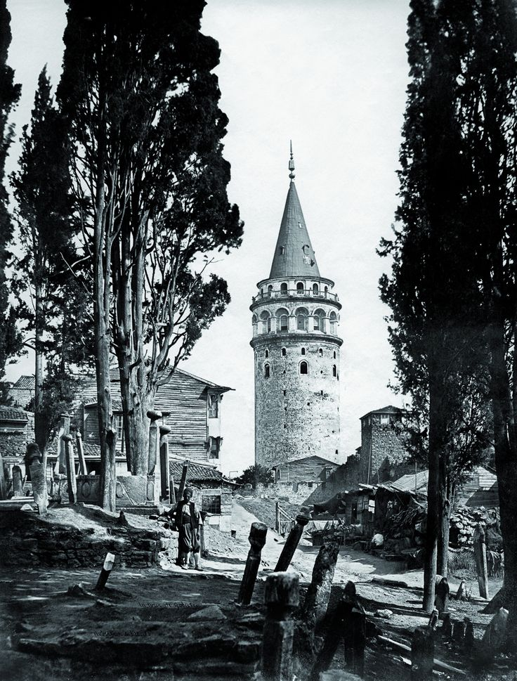 Galata KulesiErnest De Caranza, 1854