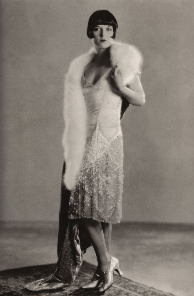 """When I went to Hollywood in 1927, the girls were wearing lumpy sweaters and skirts… I was wearing sleek suits and half naked beaded gowns and piles and piles of furs."" -Louise Brooks"