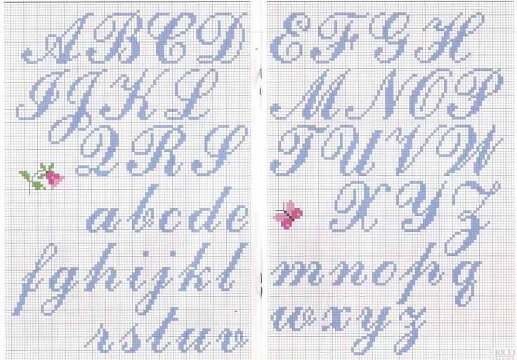 grafico para bordado ponto cruz letras 2