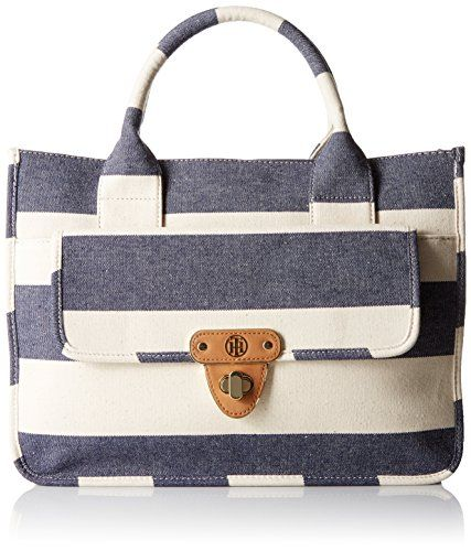 Tommy Hilfiger Rugby Stripe Tote NavyNatural *** You can get more details by clicking on the image.