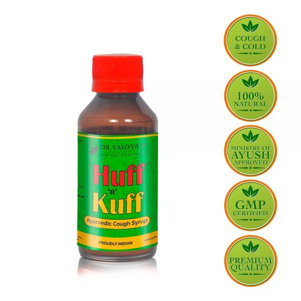 Huff 'n' Kuff: Ayurvedic Cough Syrup - Pack of Two | Dr