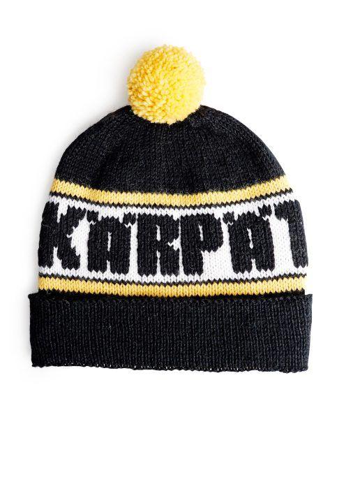 Kärpät-fanipipo, neulo pipo suosikkijoukkueesi väreissä ja joukkueen nimellä, ohje: SK 9/14.