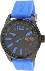 Hugo Boss Men's 1513048 Blue Rubber Quartz Watch with Black Dial