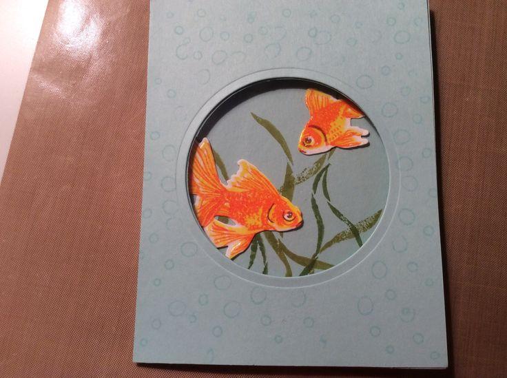 Открытка рыбка своими руками
