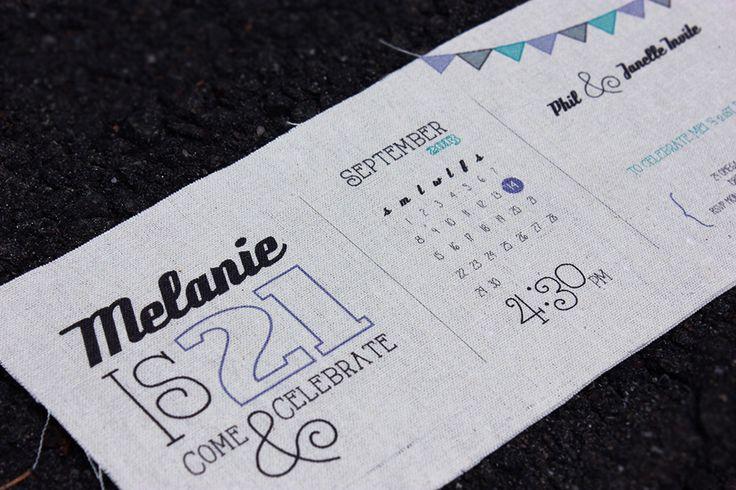 21st Invitation | Fabric