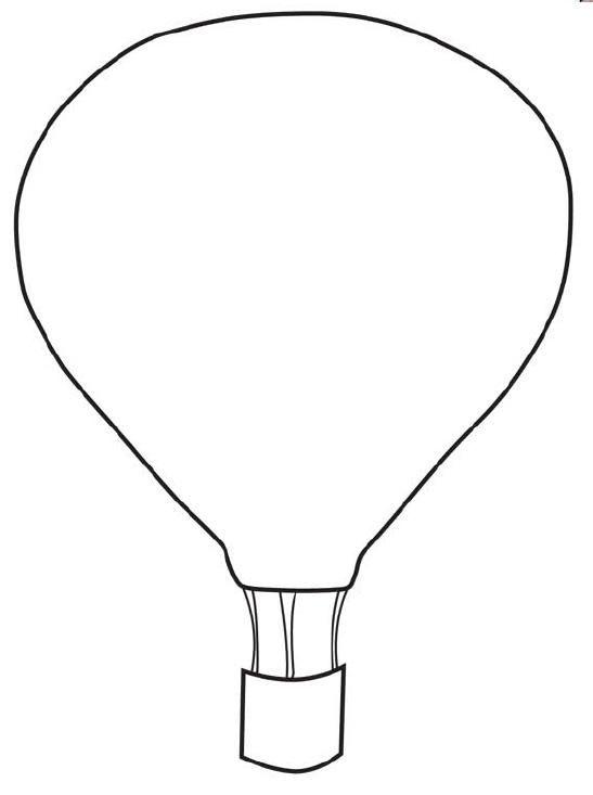 FREE Printable Hot Air Balloon Template
