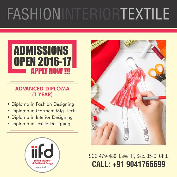 Admission Open For Fashion Designing Courses Limited Seats Available In IIFD