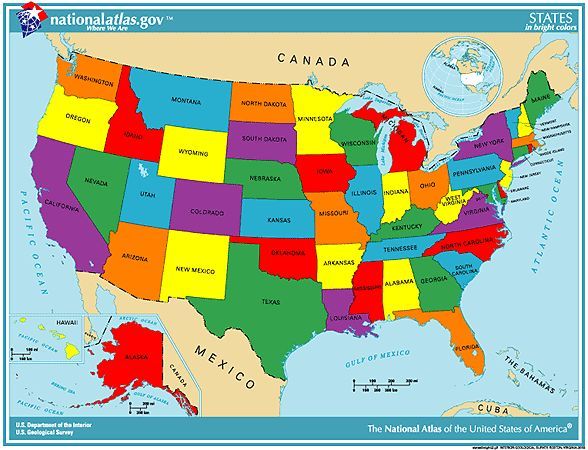 Best United States Map Labeled Ideas That You Will Like On - Capitals of us states map