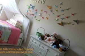 DIY Girl's Room Decor:  Butterfly Origami Migration by sherri