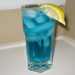 Kind of like a Long Island iced tea, but with a blue twist!