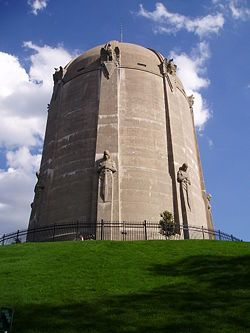 The historic Washburn Park water tower located in the Tangleton neighborhood of Minneapolis, Minnesota.