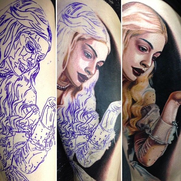 White Queen Tattoo #AliceinWonderland Tattoo brought to life by Nikko Hurtado